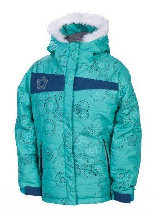 Girls Mannual Gidget Puffy Jacket (Seafoam Rings)