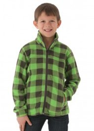Columbia Boys Zing II Fleece (Cyber Green Lumberjack)