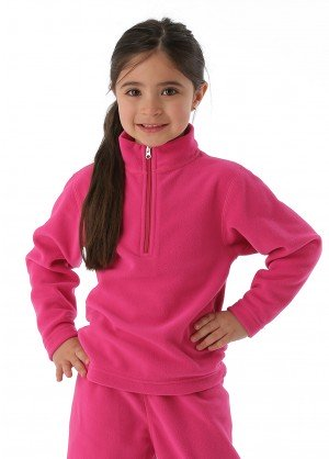 Obermeyer Girls Ultragear 100 Micro Zip-T (Wild Berry)
