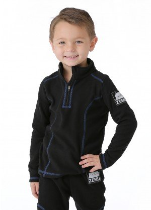 Little Boys Zemu 1/4 Zip Fleece Top - WinterKids.com