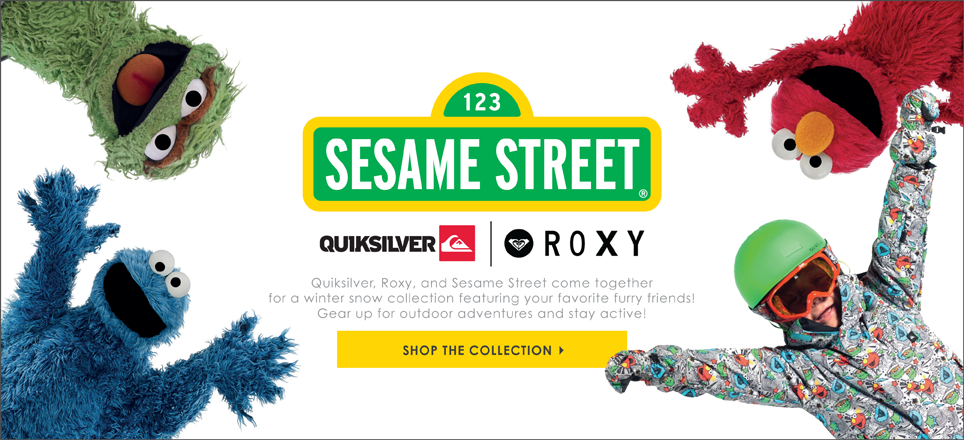 Sesame Street Collection by Roxy & Quiksilver