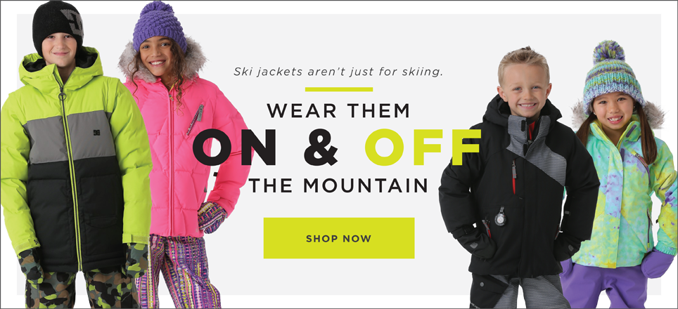 Ski jackets for on and off the mountain.